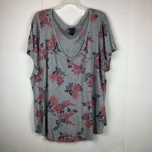 Torrid floral T-shirt